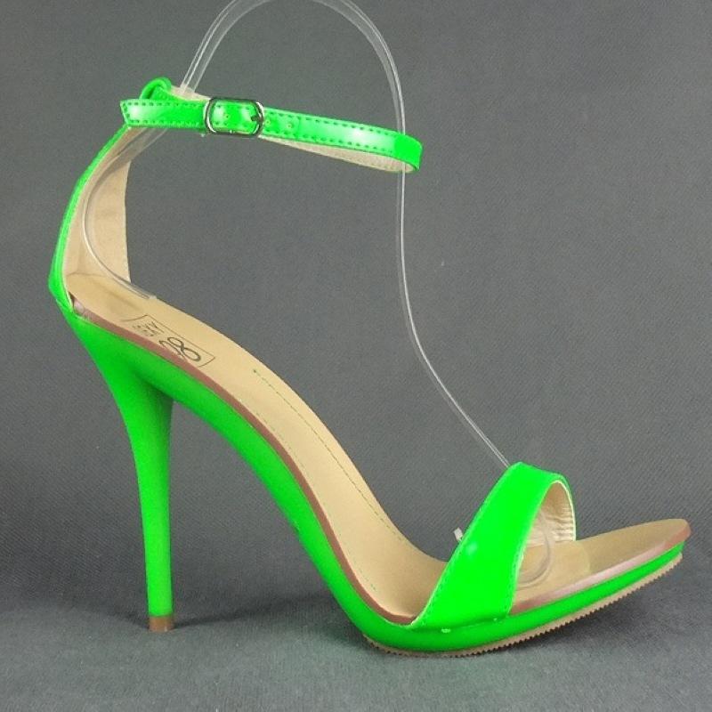 sexy high heels sandaletten in leuchtenden farben neon ebay. Black Bedroom Furniture Sets. Home Design Ideas
