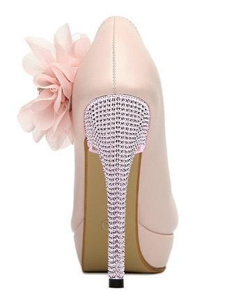 rosa high heel pumps mit toller blumenapplikation ebay. Black Bedroom Furniture Sets. Home Design Ideas